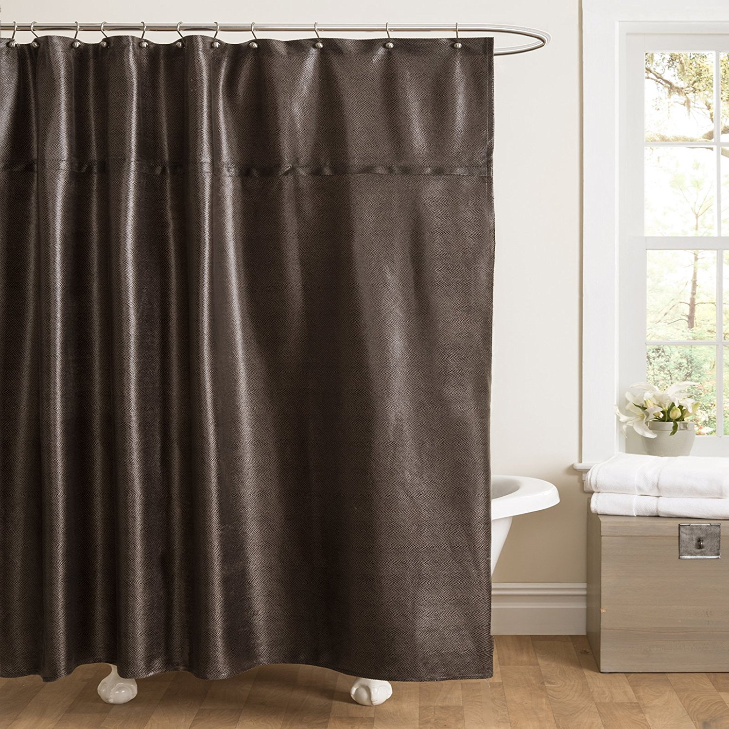 Brown Leather Shower Curtains Design Throughout Dimensions 1500 X