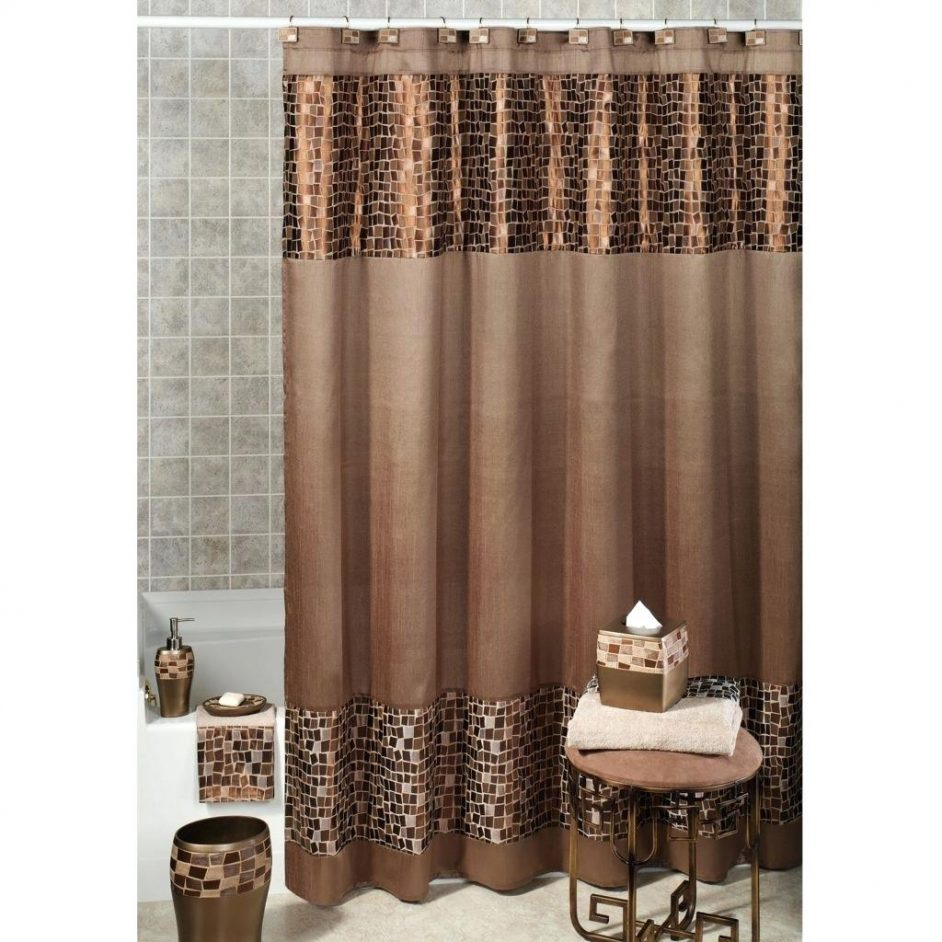 Brown Leather Shower Curtains Design Within Size 942 X