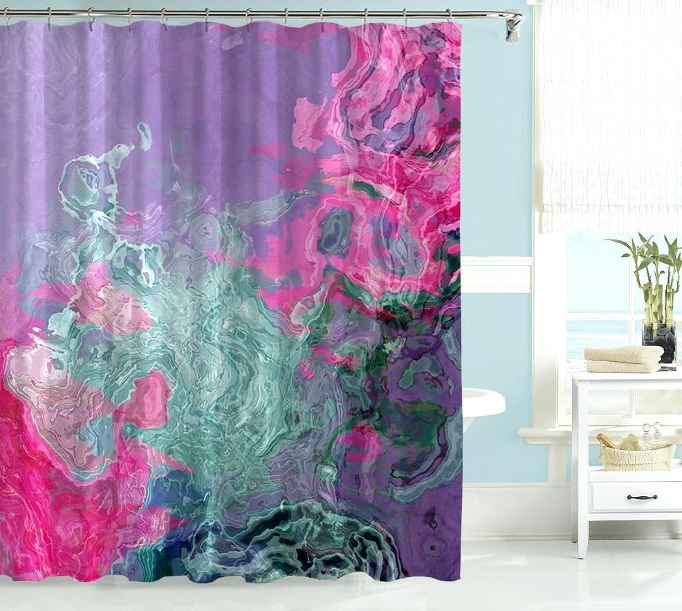 Pink And Lime Green Shower Curtains • Shower Curtains Ideas