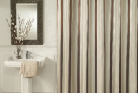 Brown Vertical Stripped Shower Curtains Sets For Painted Grey with sizing 1500 X 1500