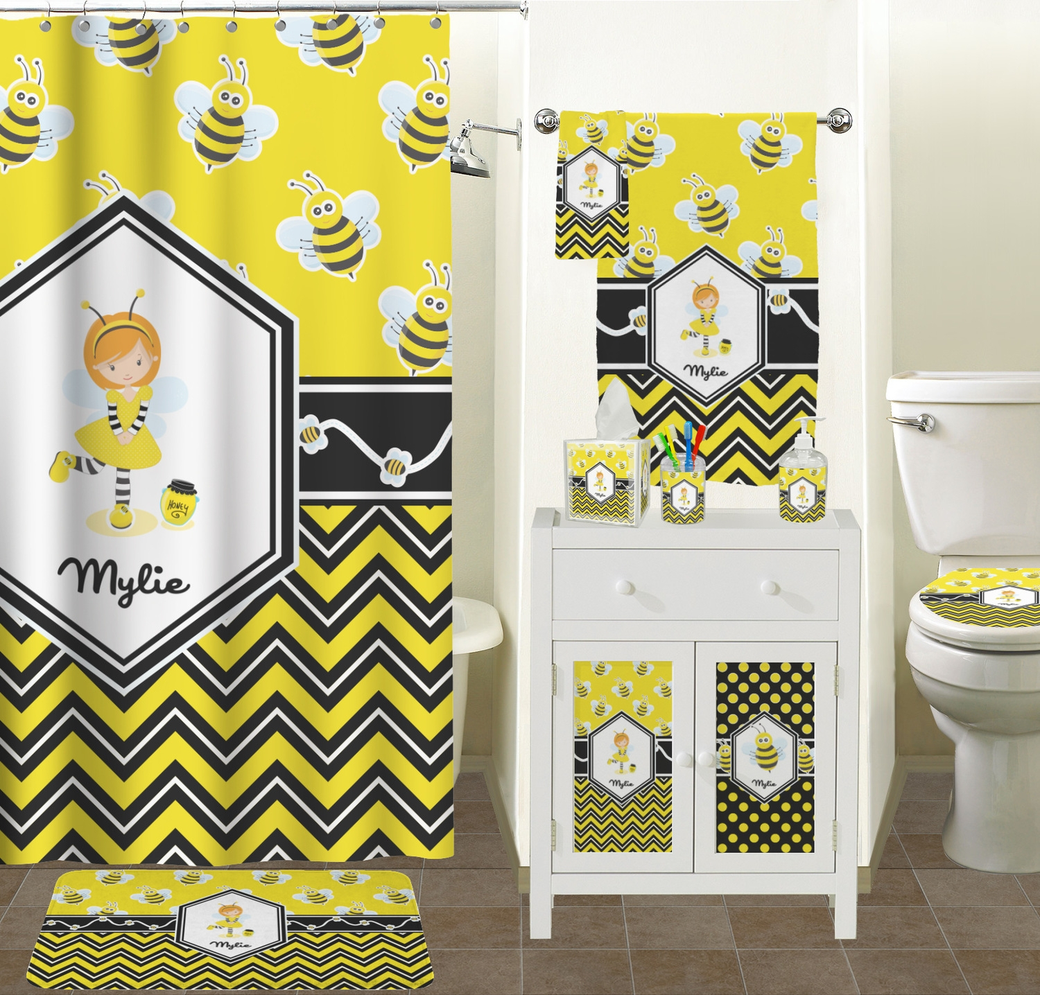 Bumble Bee Shower Curtain Hooks Shower Curtain for dimensions 1500 X 1436