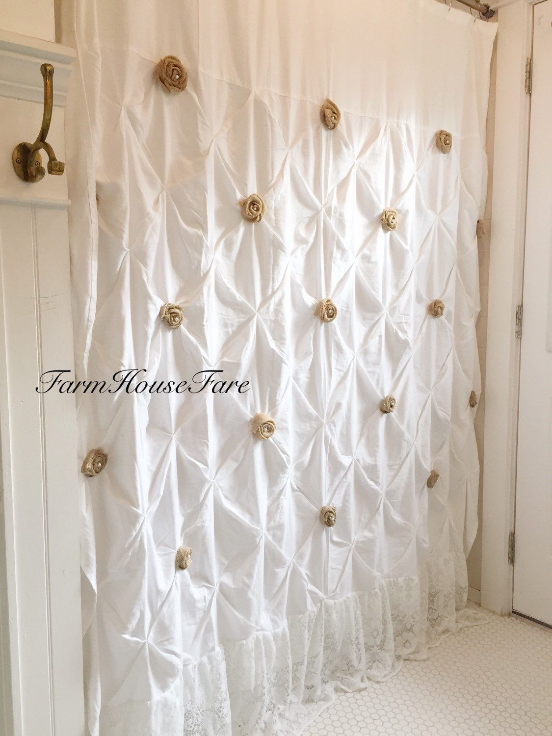Burlap Shower Curtains And Muslin Ruffled Curtain For Proportions 1125 X 1500