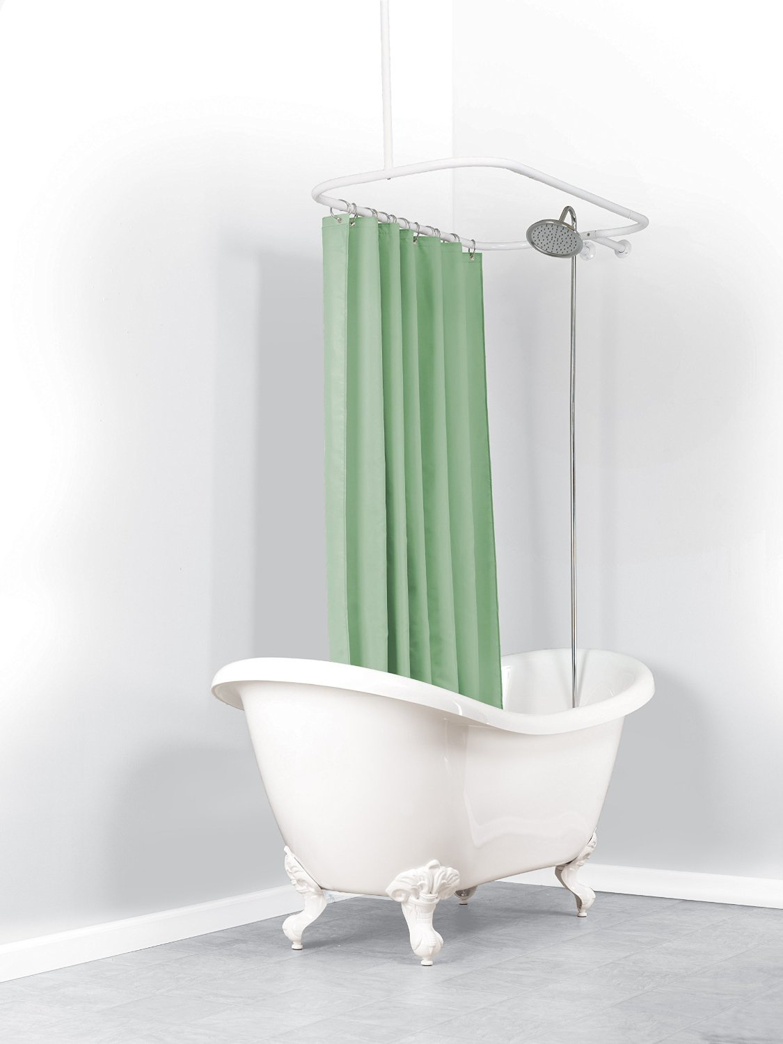 Catchy Ideas For Oval Shower Curtain Rod Design Exquisite Design inside proportions 1125 X 1500