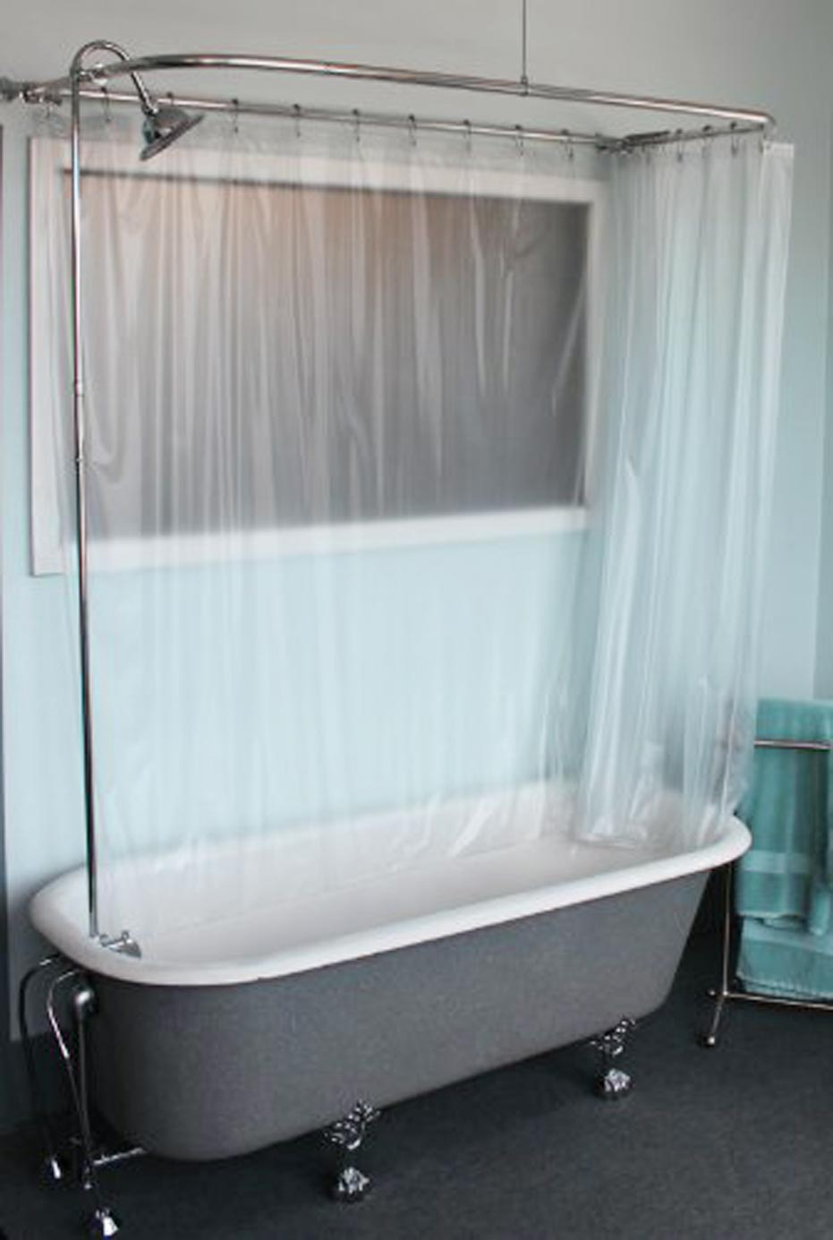 Ceiling Mounted Clawfoot Tub Shower Curtain Scheduleaplane intended for size 931 X 1385