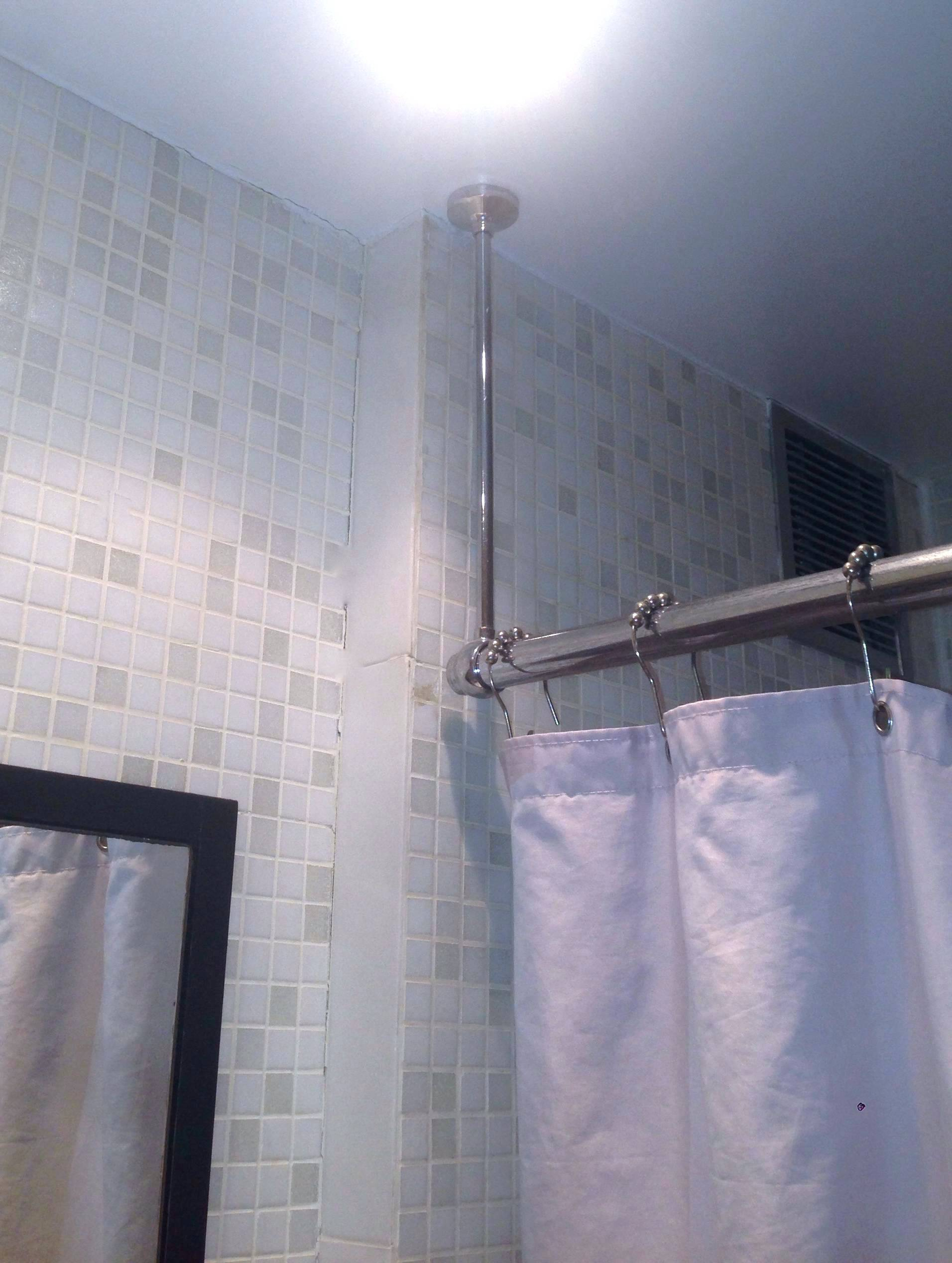 Fabulous Shower Curtain Rod For Slanted Ceiling • Shower Curtains Ideas GS92