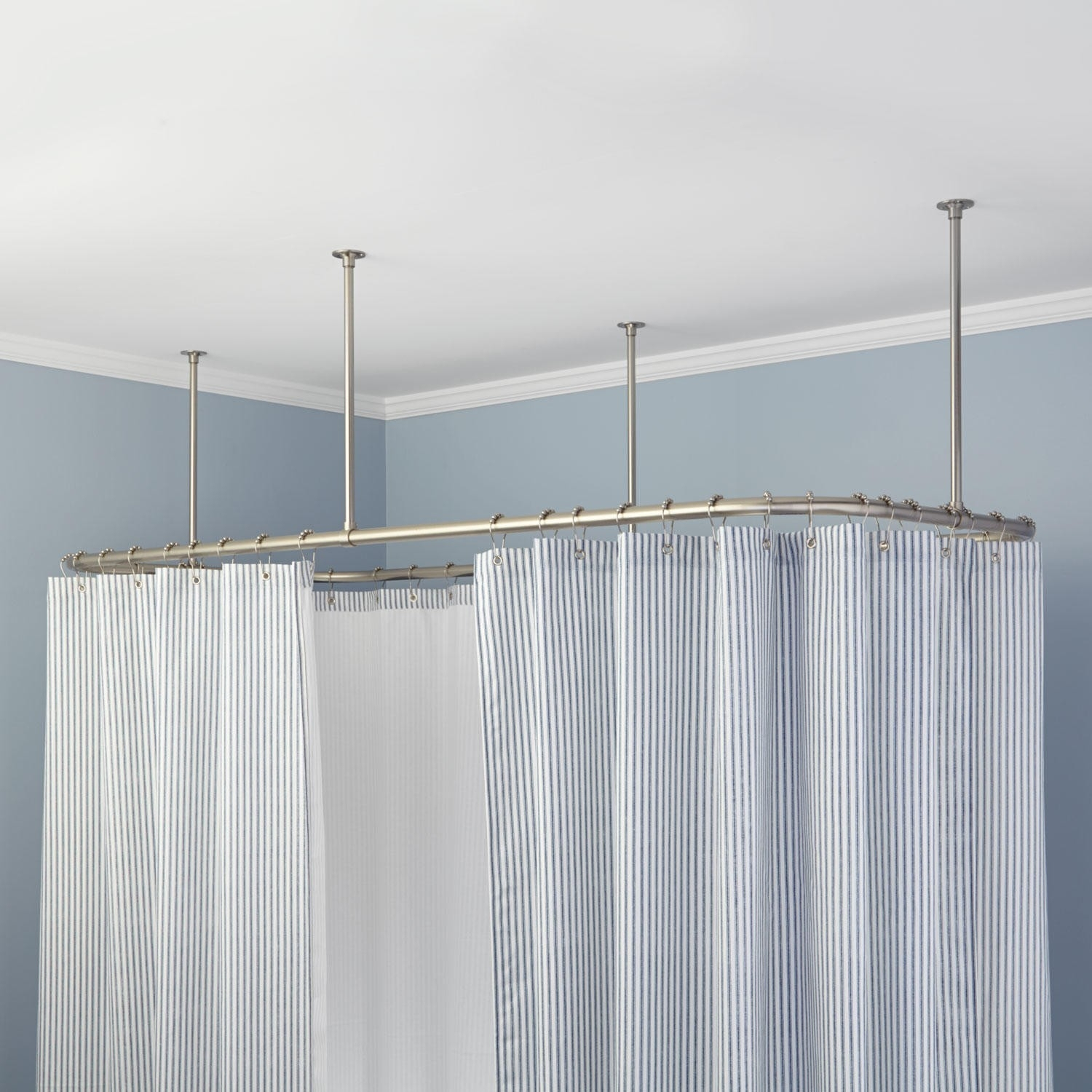 Ceiling Mounted Oval Shower Curtain Rail Shower Curtain Ideas for dimensions 1500 X 1500