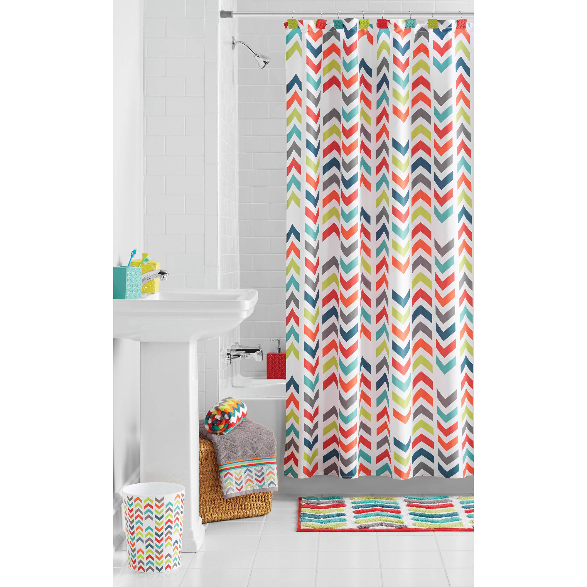 Beau Chevron Shower Curtains For Dimensions 2000 X 2000