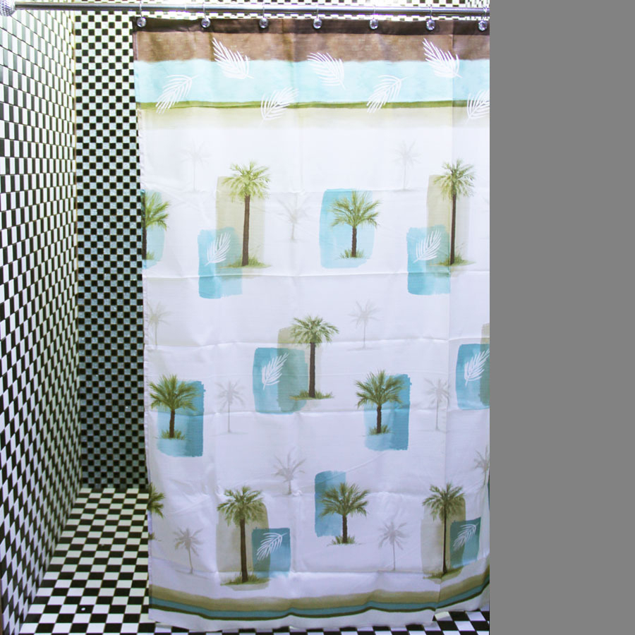 Chic Whiteba Blue Palm Tree Shower Curtains for dimensions 900 X 900