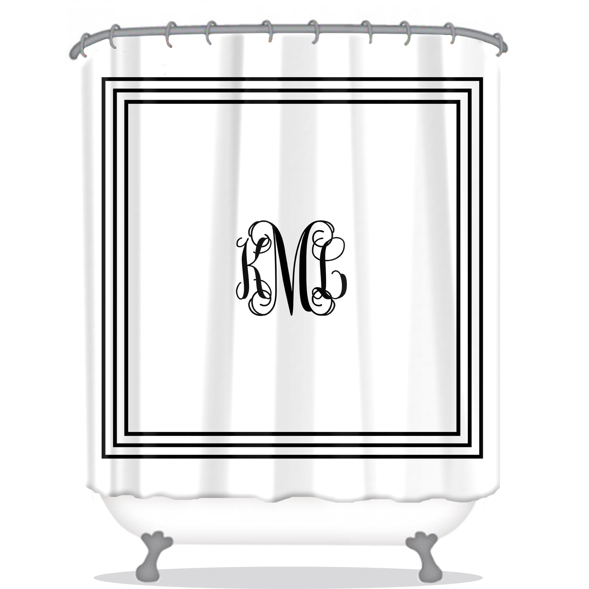 Girly Monsters Shower Curtain Personalized Potty Training
