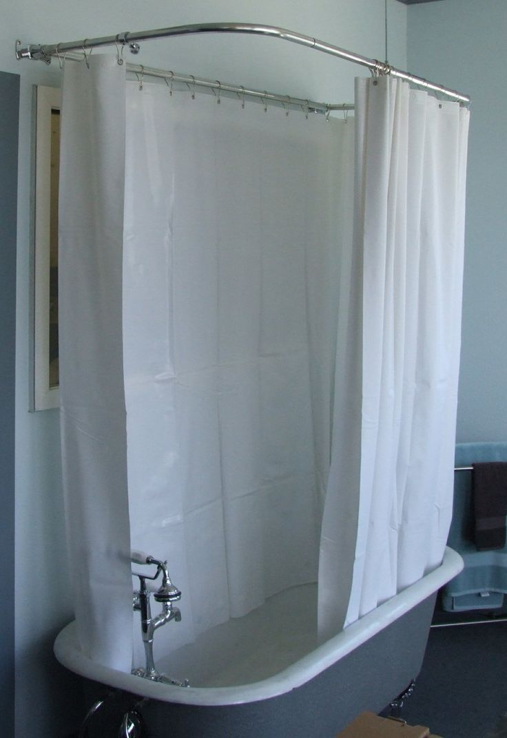 Length Of Shower Curtain For Clawfoot Tub Shower