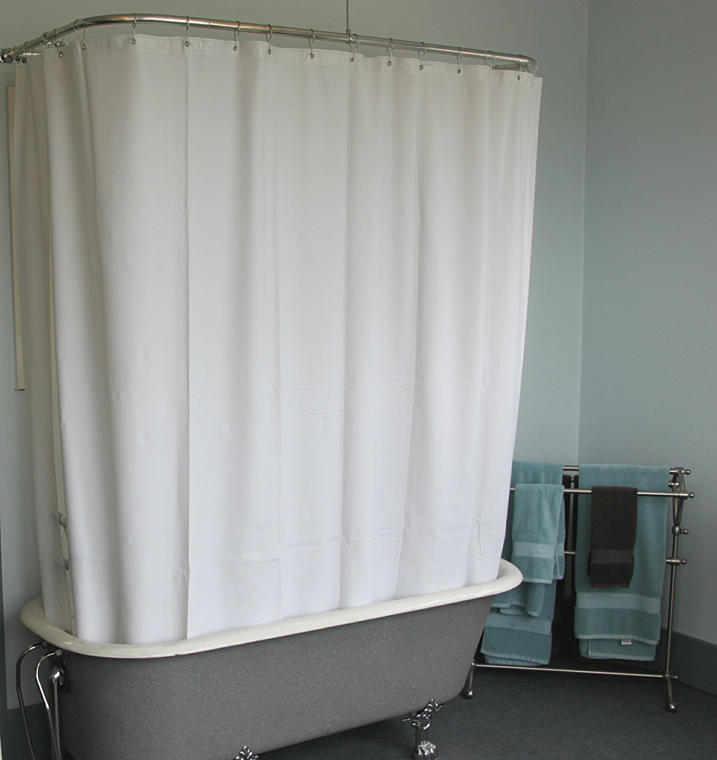 Short Shower Curtain Liner Clawfoot Tub Shower Curtains