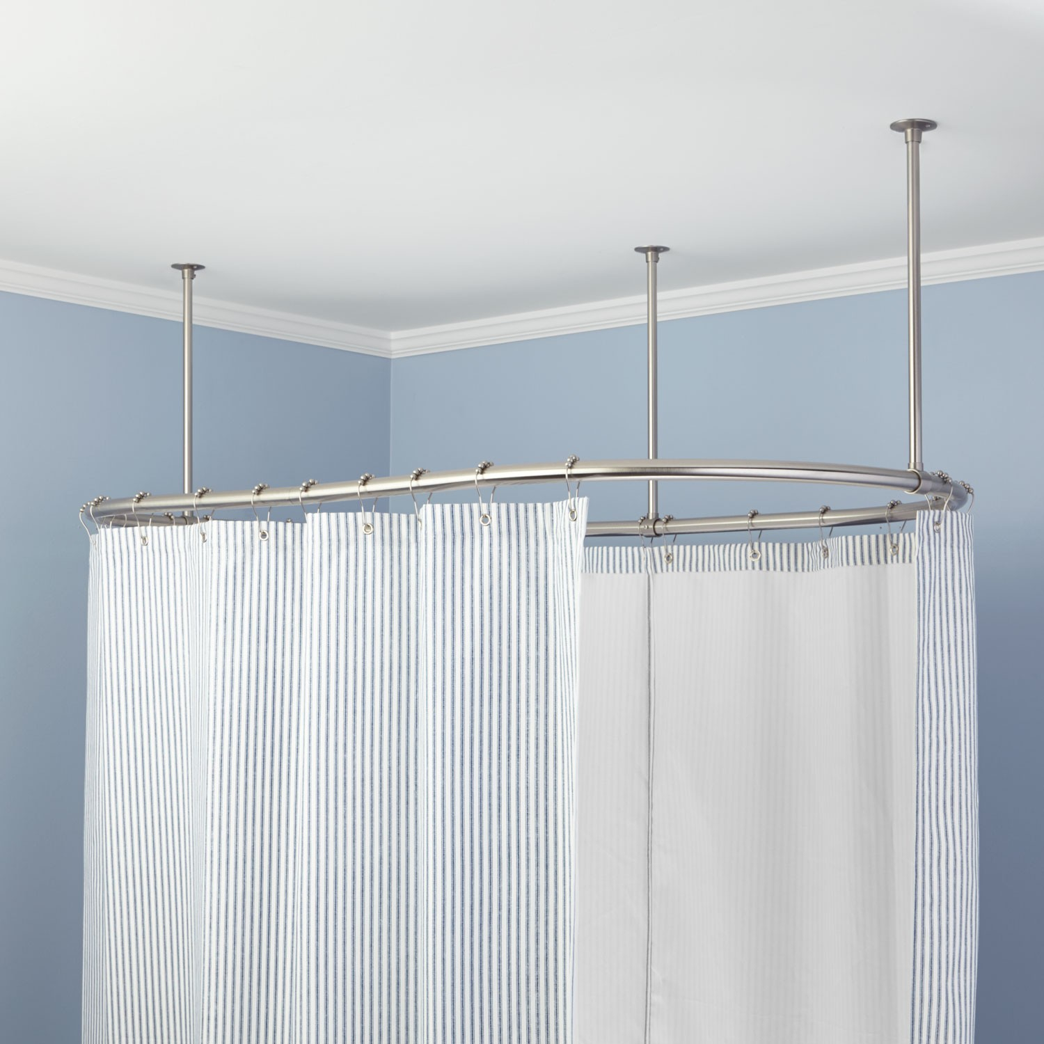 Clawfoot Tub Shower Curtain Rods Signature Hardware inside size 1500 X 1500