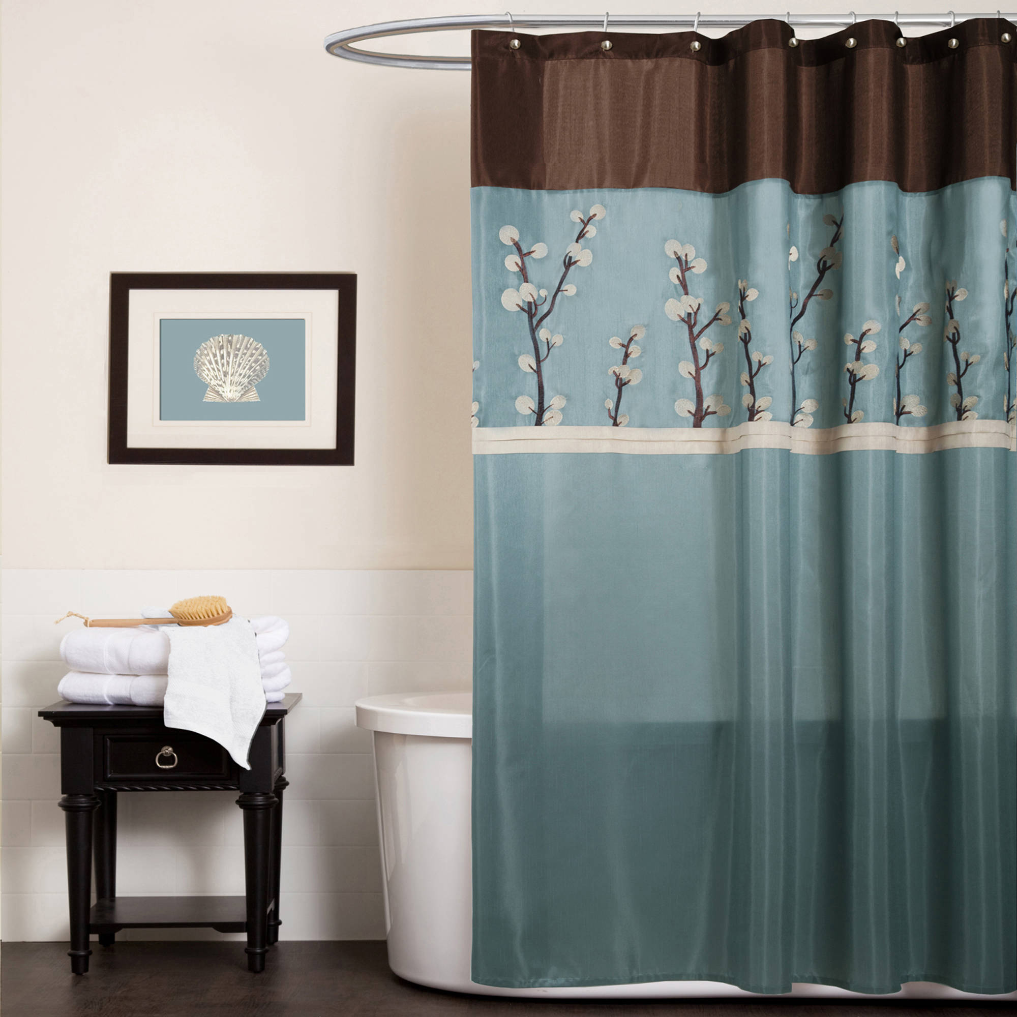 brown and blue bathroom accessories. Cocoa Flower Shower Curtain Walmart Inside Proportions 2000 X Brown And Blue Bathroom Accessories E