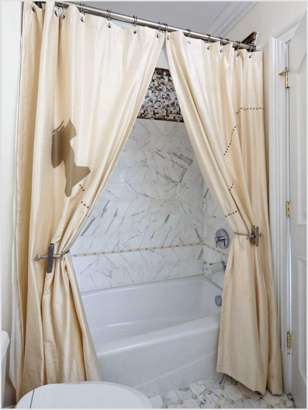 Coffee Tables Double Swag Shower Curtain With Valance Proportions 1292 X 1718