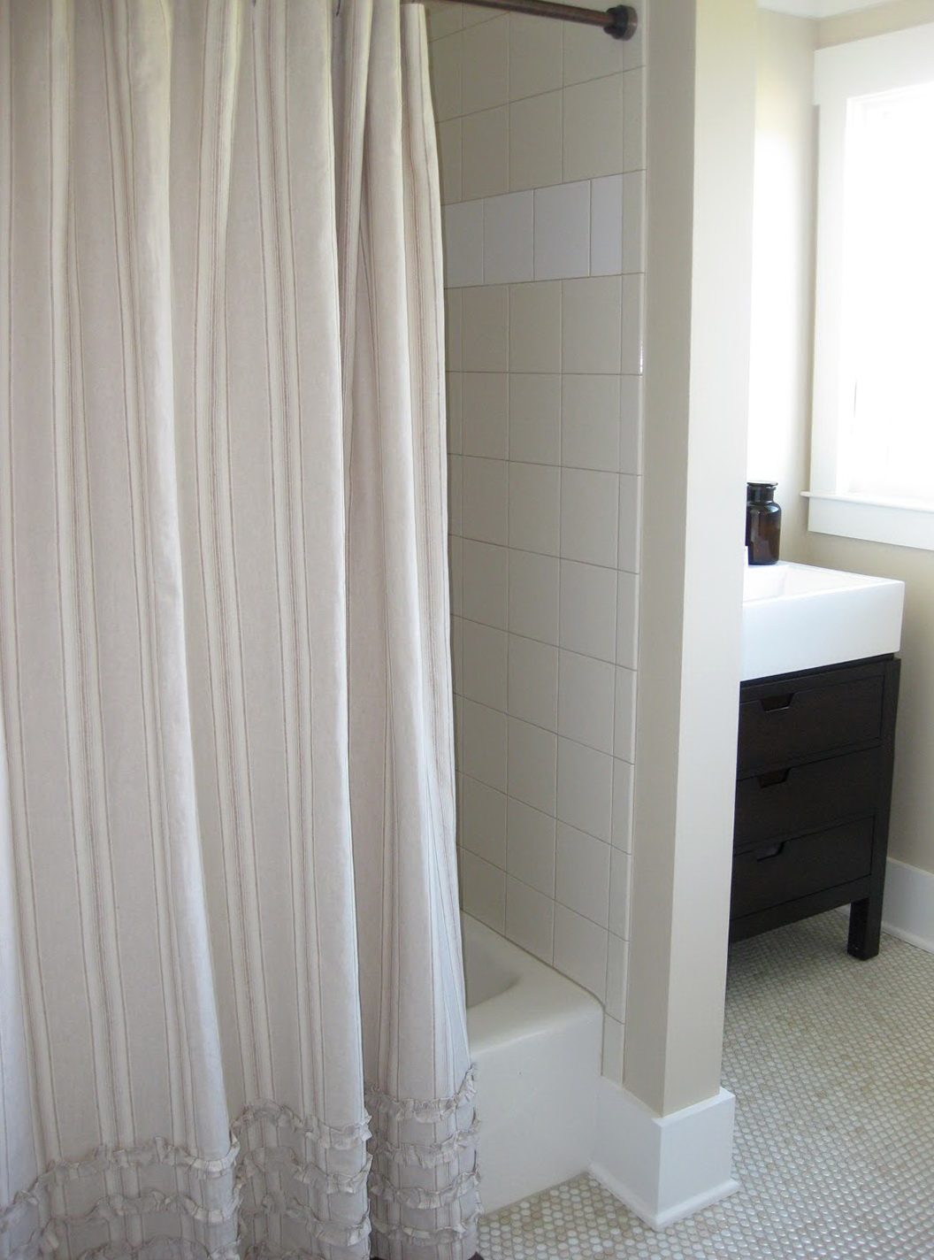 Coffee Tables Navy Ticking Stripe Shower Curtain Grey With Regard To Proportions 1056 X 1424