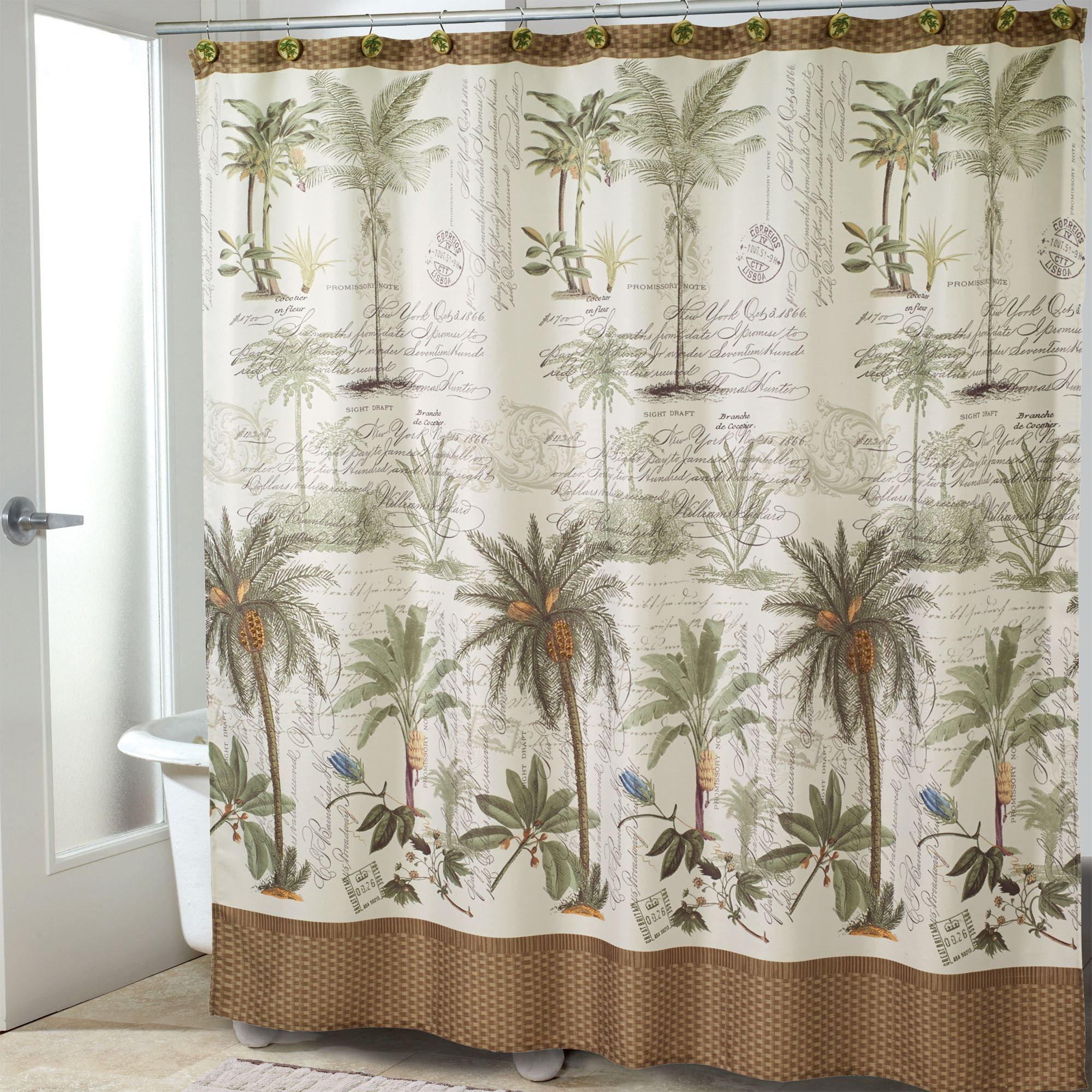 Colony Palm Tree Tropical Shower Curtain with regard to proportions 2000 X 2000
