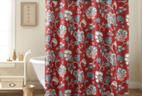 Contemporary Ideas Red Shower Curtains Stylist Inspiration Lucia within proportions 2000 X 2000