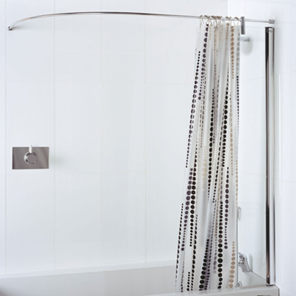 Corner Bath Shower Curtain Rail Track Shower Curtain Intended For  Dimensions 1000 X 1000