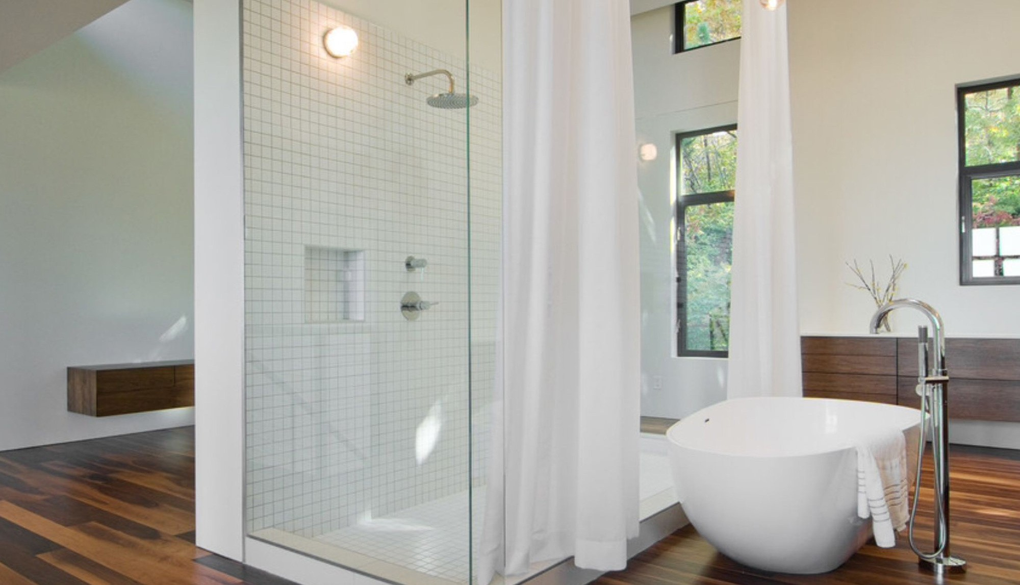 Corner Tub Shower Curtain Diy Bed Within Measurements 2000 X 1147