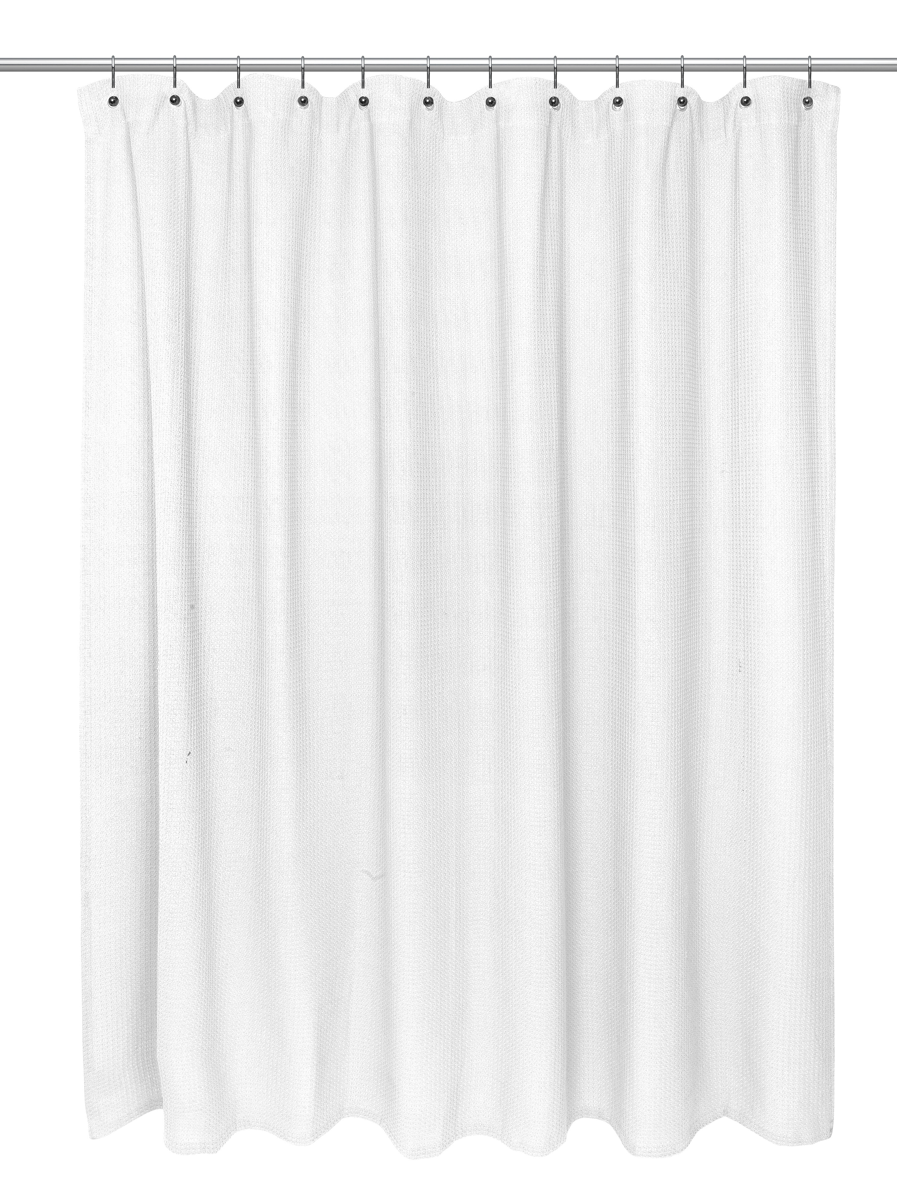 Extra Long Cotton Waffle Shower Curtain • Shower Curtains Ideas