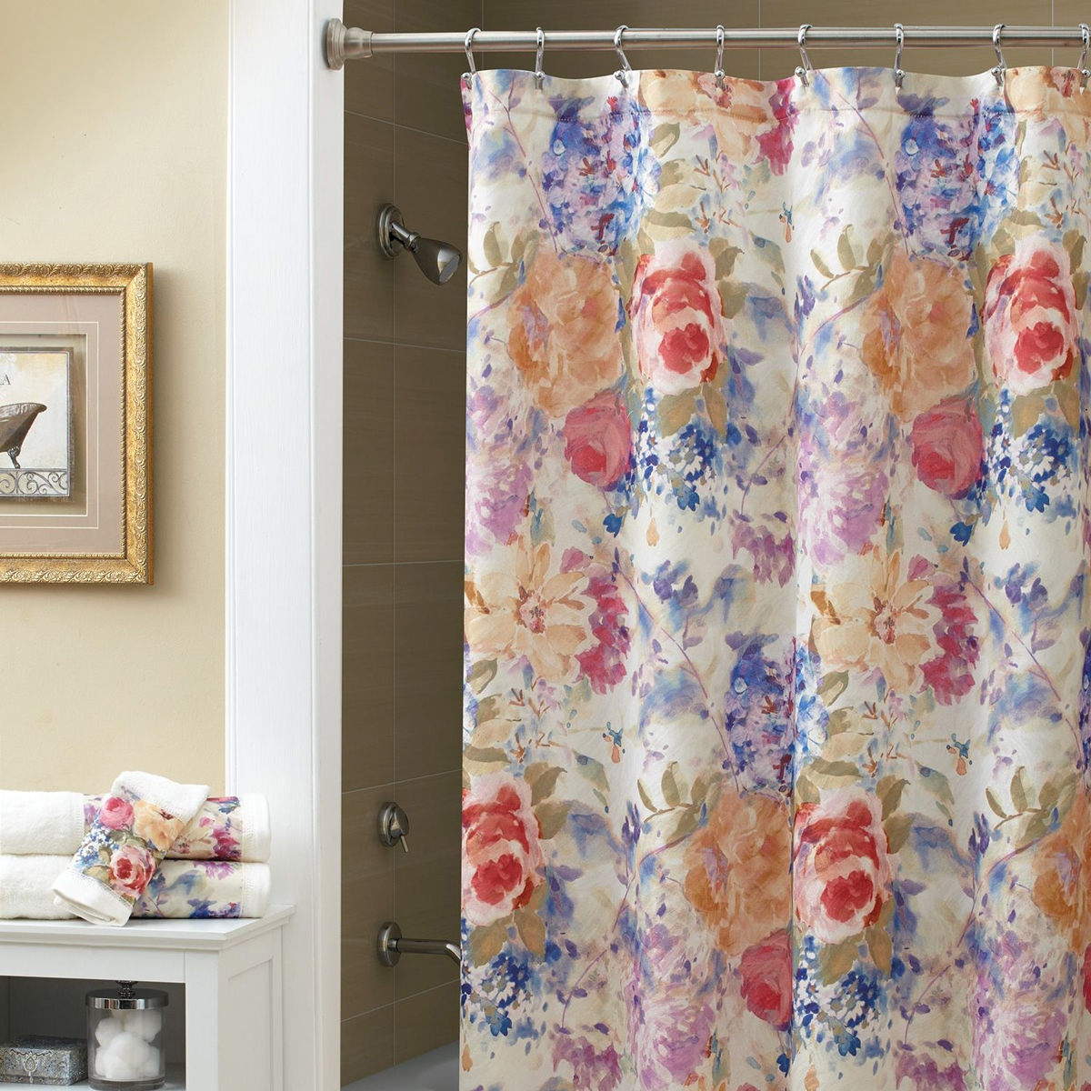 Croscill Ariel Shower Curtain Shower Curtains pertaining to size 1200 X 1200