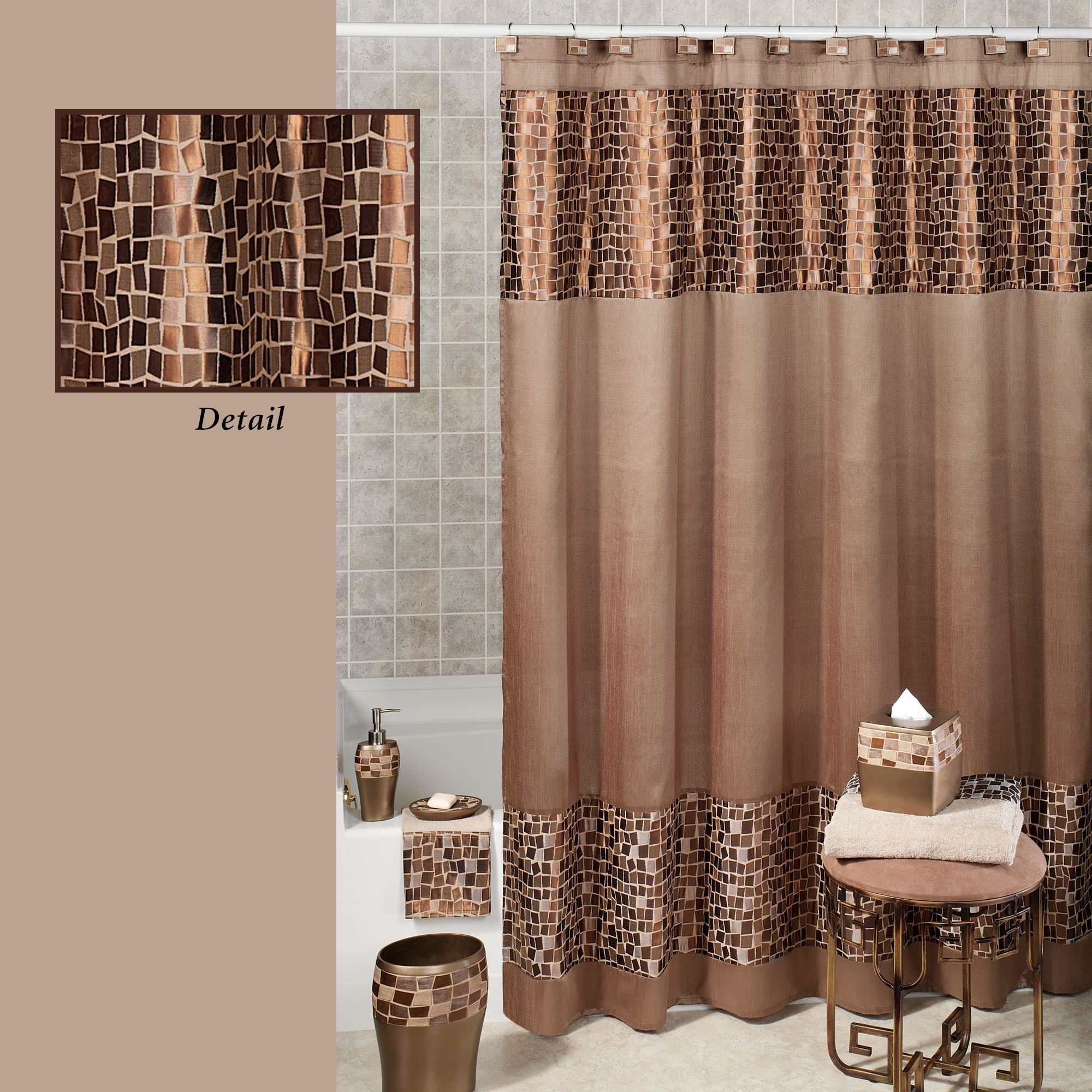 Croscill Mosaic Floral Shower Curtain Shower Curtain Ideas pertaining to size 2000 X 2000