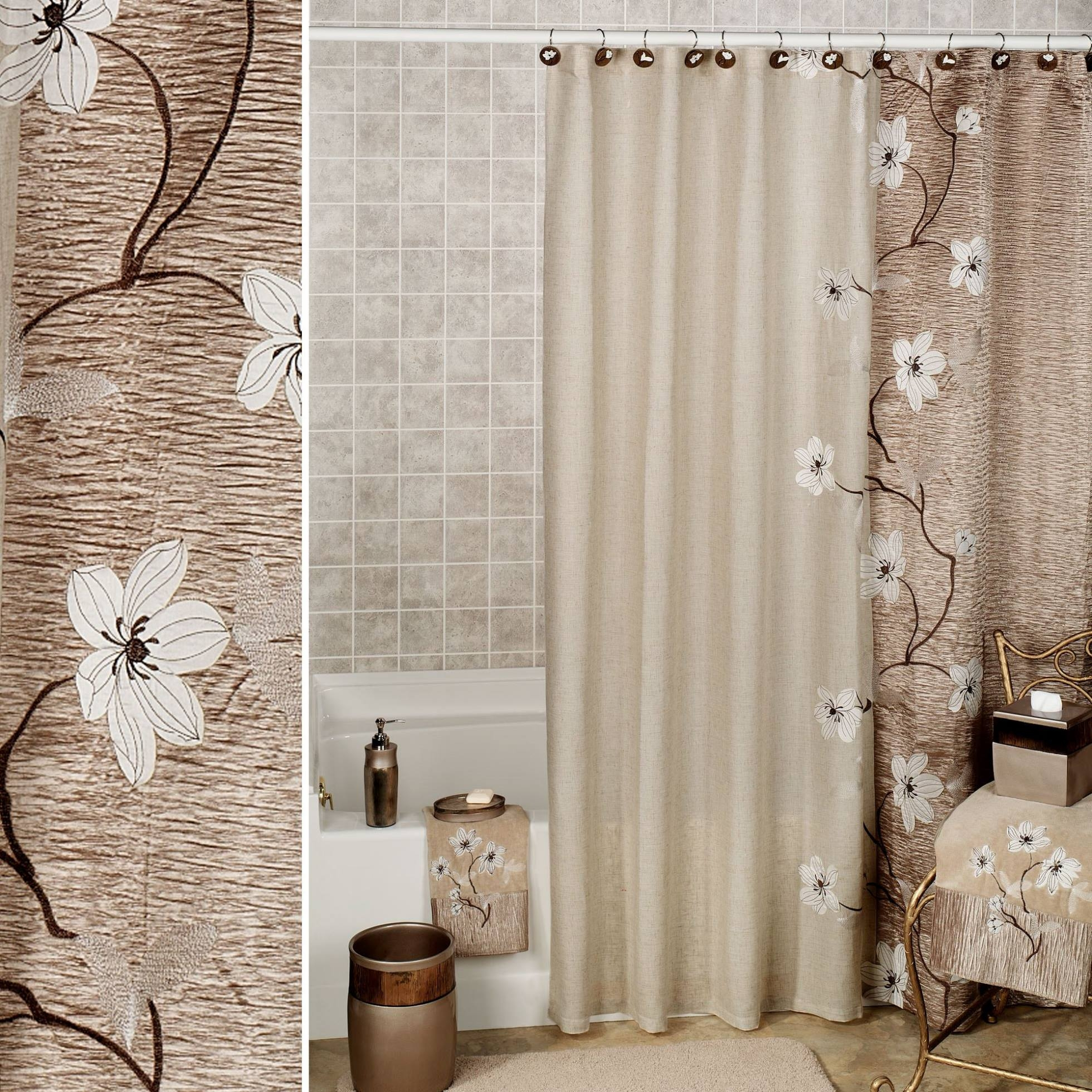 Croscill Mosaic Floral Shower Curtain Ideas Within Proportions 1960 X