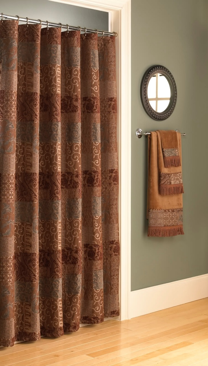 Croscill Mosaic Leaves Shower Curtain Ideas For Measurements 728 X 1278