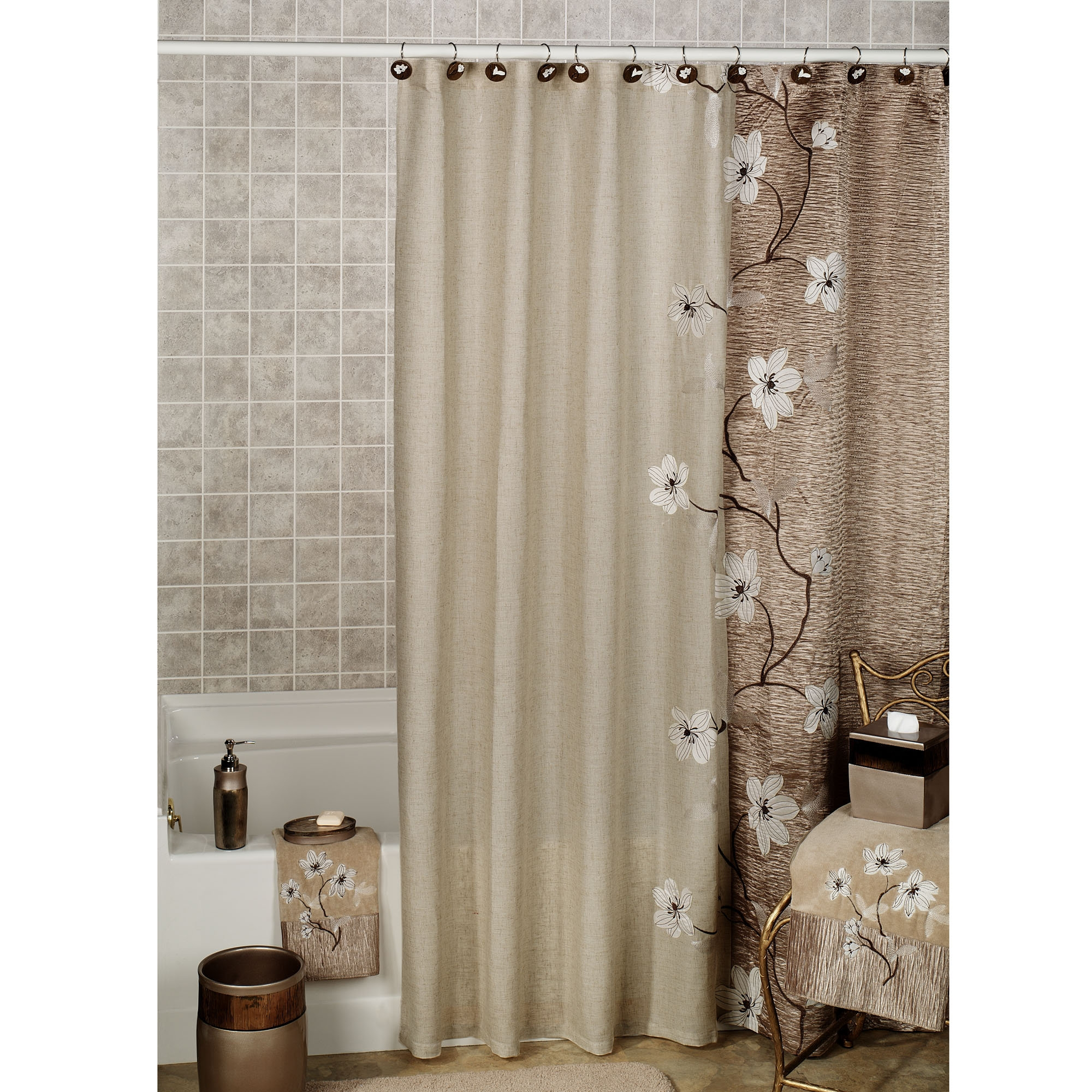 Croscill Spa Leaf Shower Curtain Hooks Shower Curtain within dimensions  2000 X 2000