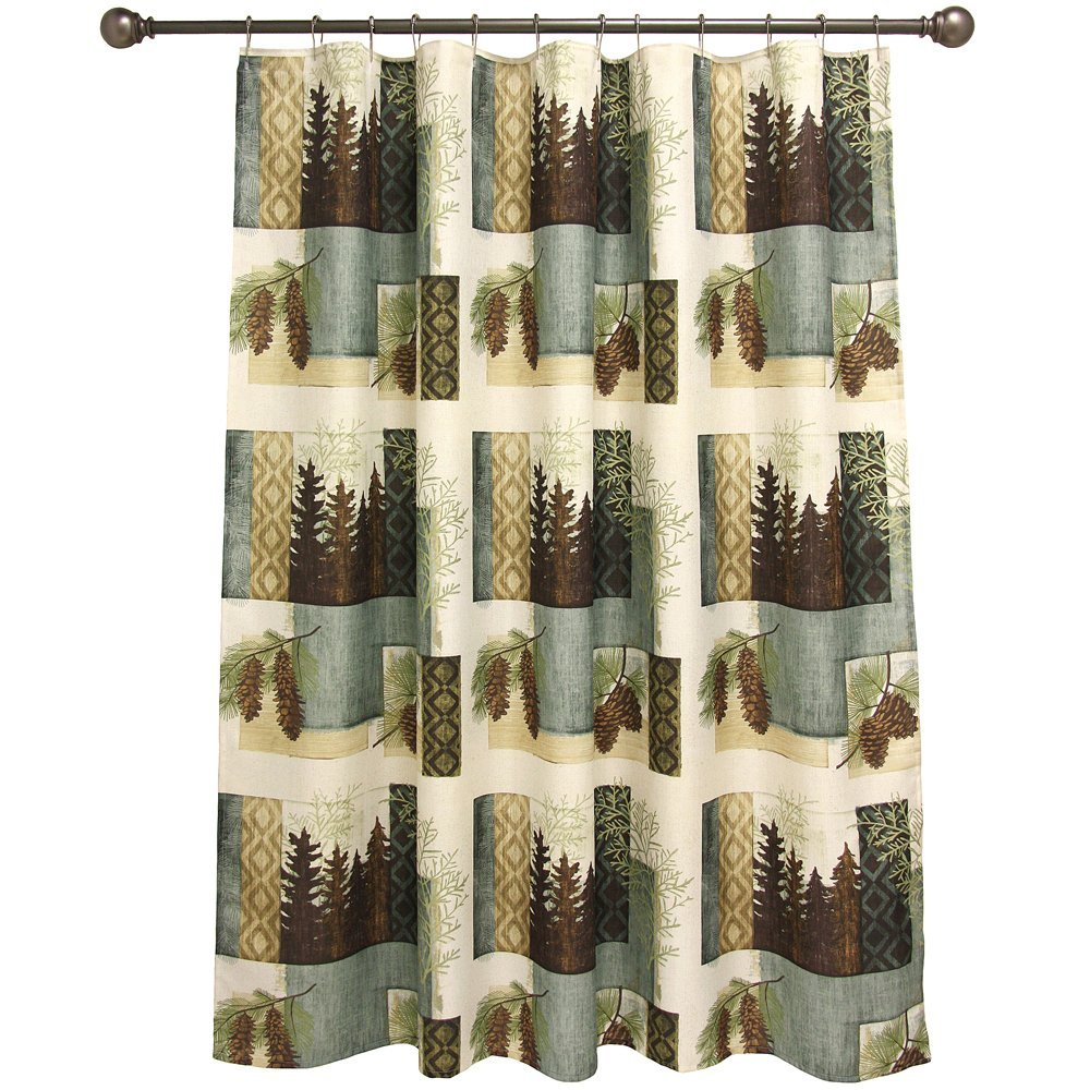 Curtain Nylon Shower Curtain Bathroom Theme Sets Rustic inside sizing 1000 X 1000