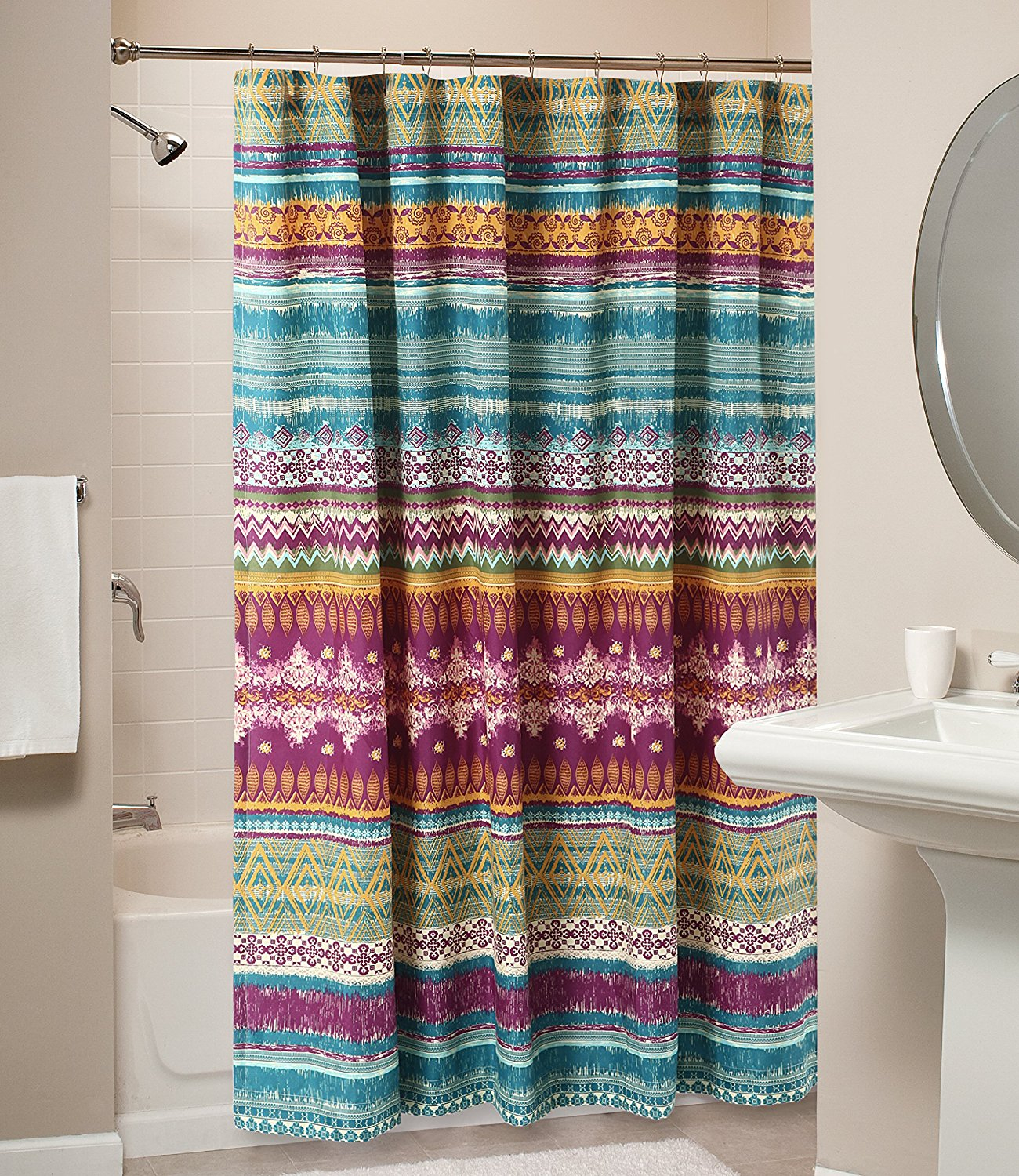 Curtain Wondrous Southwestern Shower Curtain For Mesmerizing Home in size 1300 X 1500