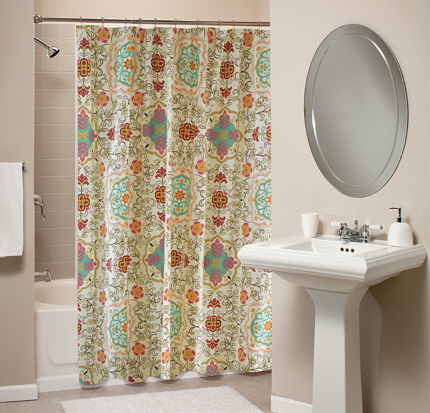 Curtain Wondrous Southwestern Shower For Mesmerizing Home With Regard To Proportions 1500 X 1441