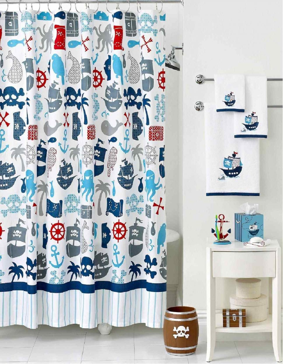 Curtains Bathroom Olive Kids Pirate Shower Curtain Attractive Inside  Measurements 970 X 1248