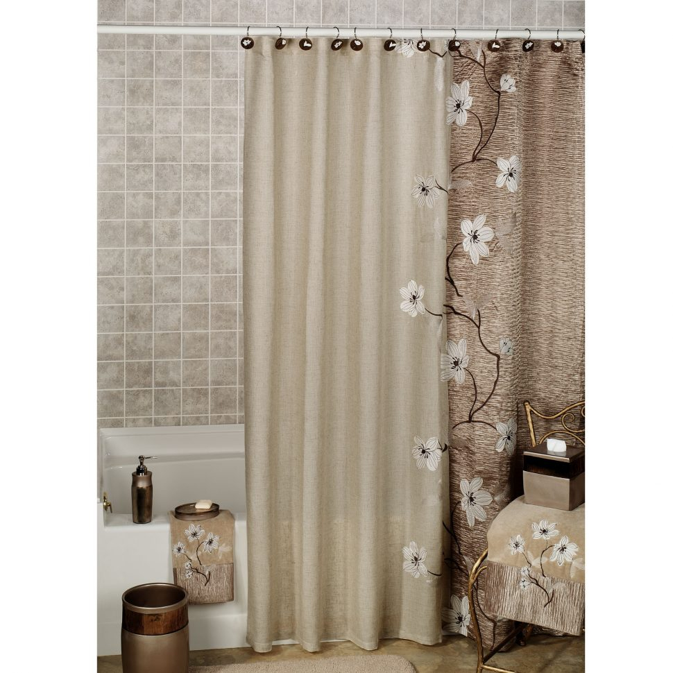 Brown Shower Curtains O Curtains Brown And Blue Shower