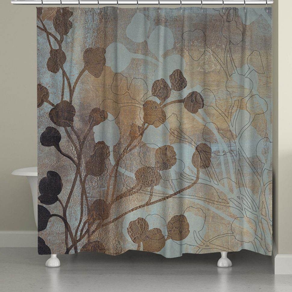 Brown And Cream Chevron Shower Curtain Curtains Ideas