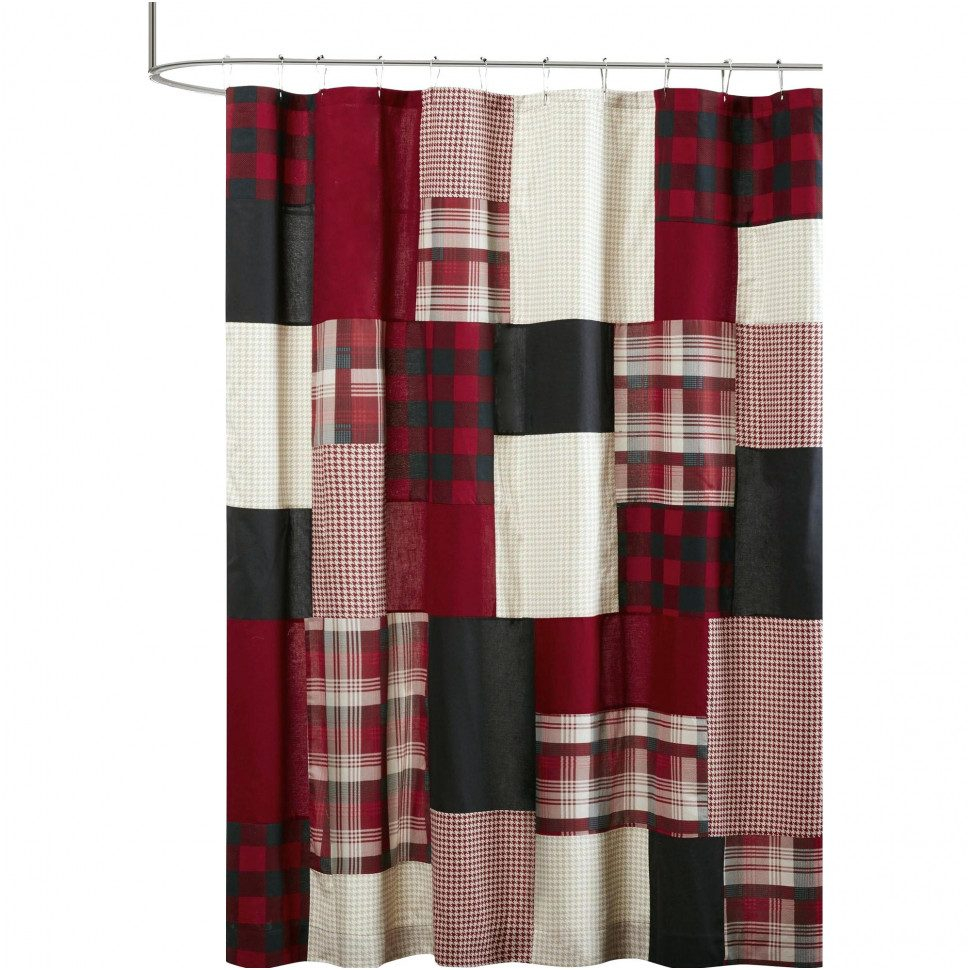 Curtains Drapes Amazing Checkered Shower Curtain Marvelous Red intended for sizing 970 X 970