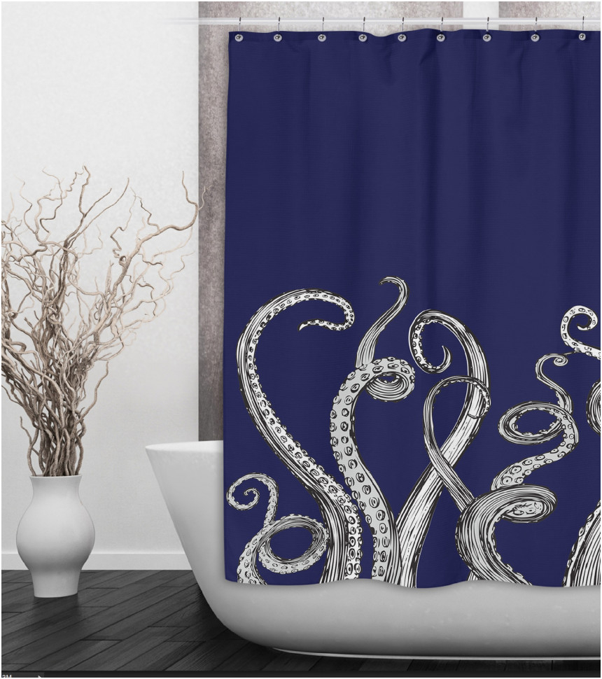 Curtains Drapes Amazing Octopus Shower Curtain Stunning In Sizing 860 X 970