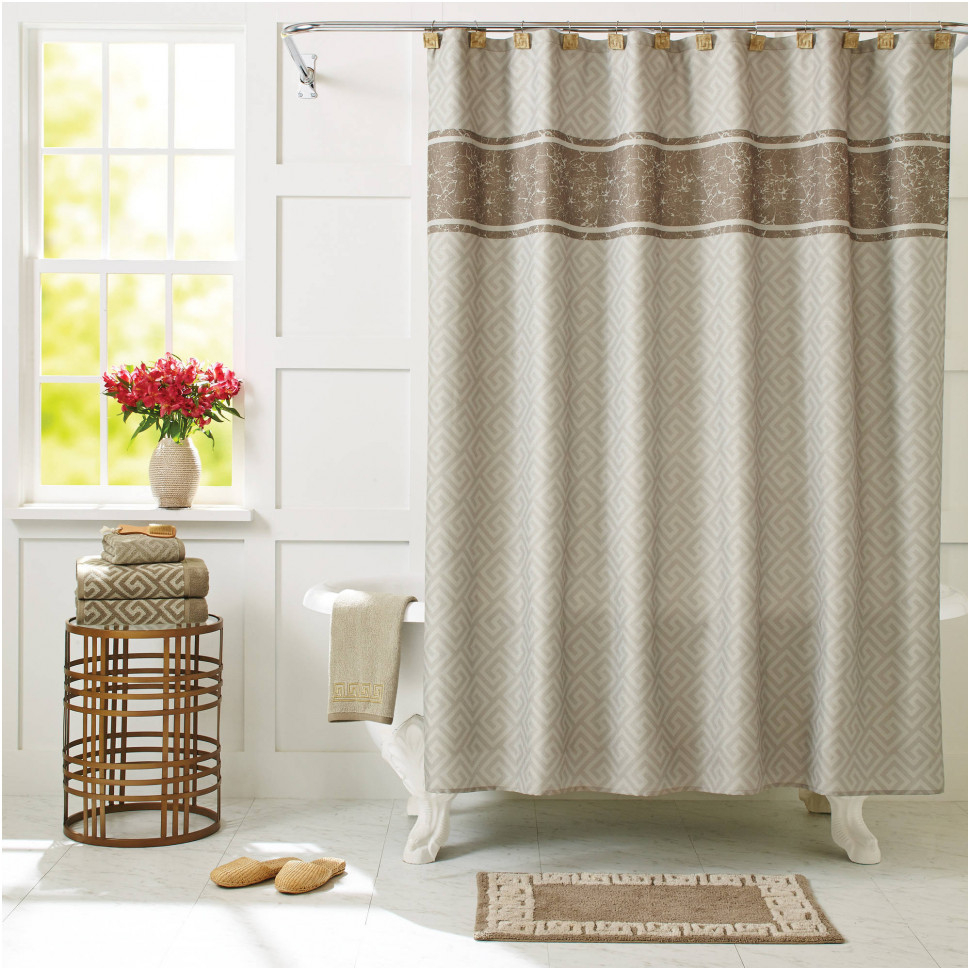curtain bathroom house mcentire making makeover out of shower panels in drapes target