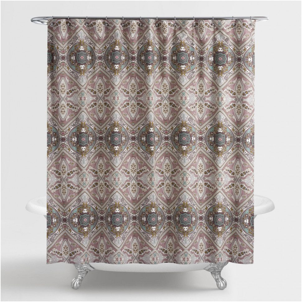 x bathroom drapes curtain madison laurel kitchen shower transitional purple violet park for dp curtains polyester home amazon com pieced