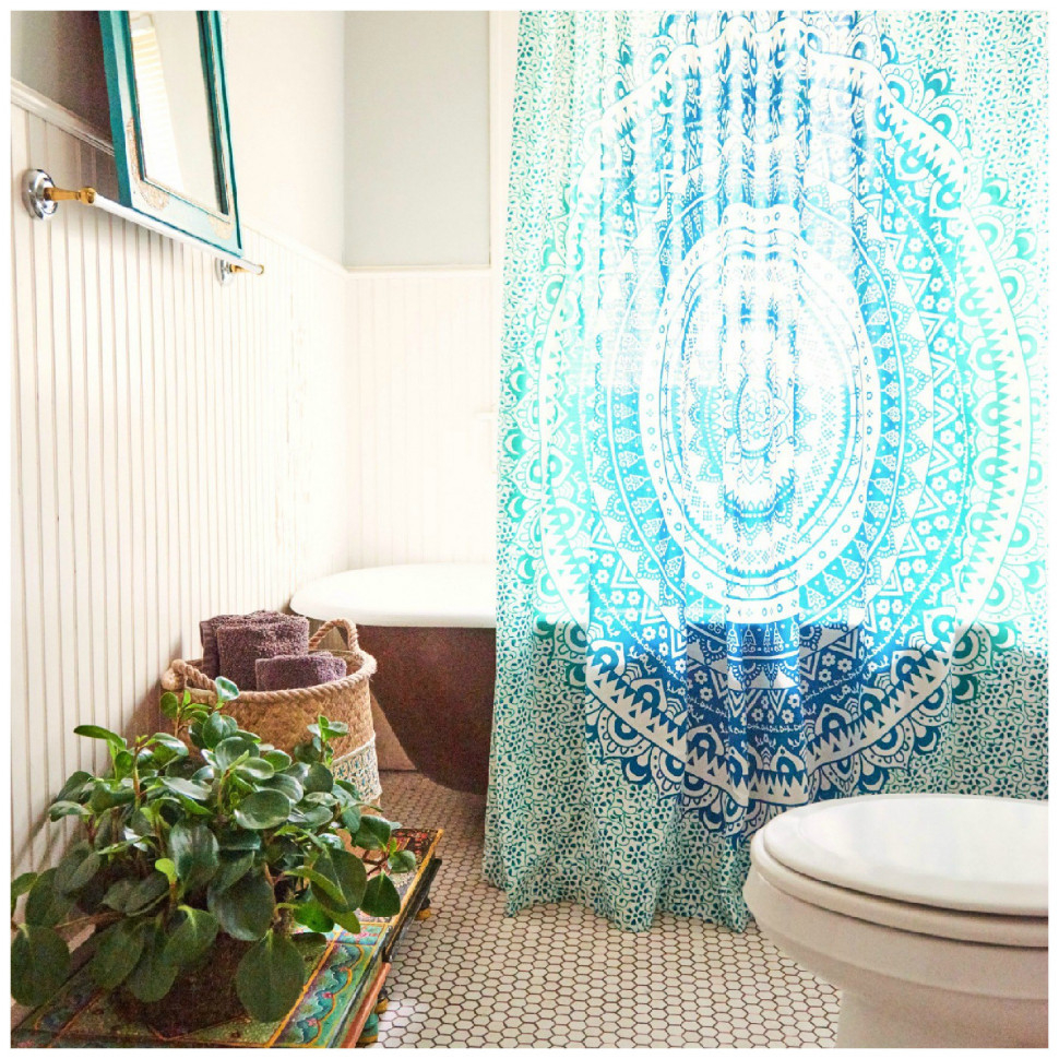 Curtains Drapes Wonderful Boho Boutique Shower Curtain Luxury Intended For Size 970 X