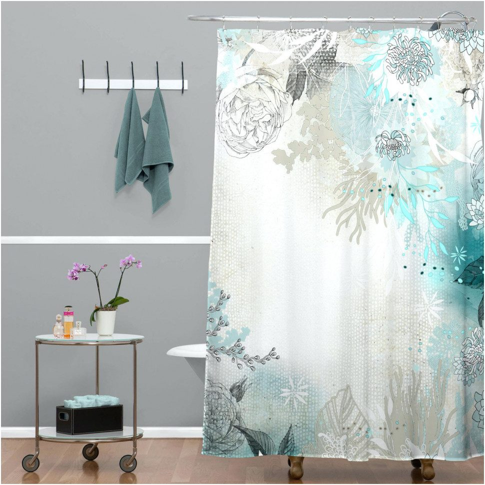 of scene bathroom cool curtains shower curtain awesome beach ideas with themed hooks along