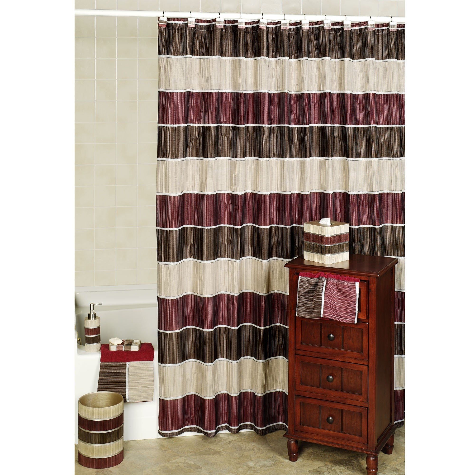 Burgundy And Green Shower Curtains • Shower Curtains Ideas