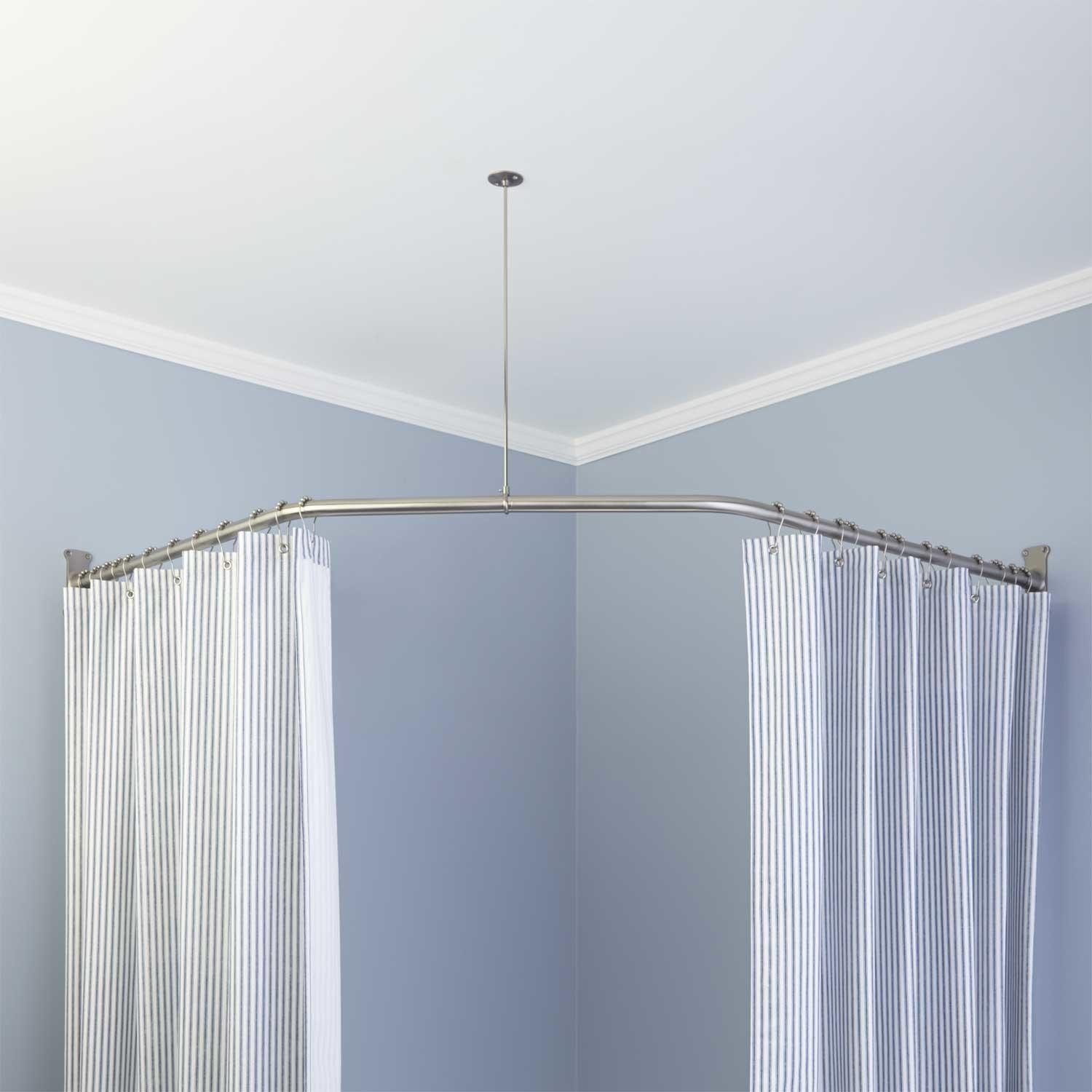 Curved Shower Curtain Rod Ceiling Mount Curtain Rods And Window Pertaining  To Sizing 1500 X 1500