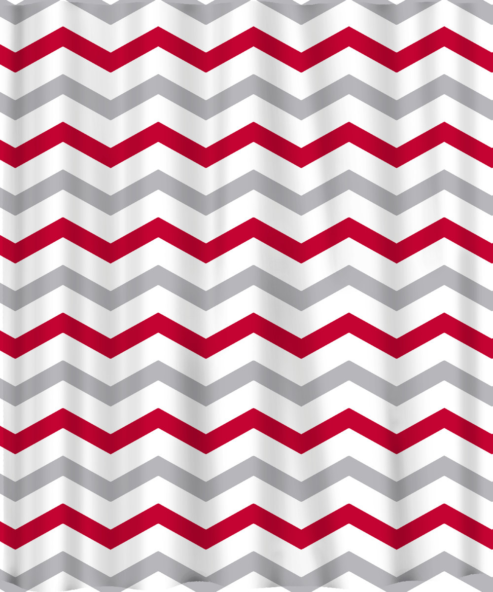Custom Colors Shower Curtain Chevron Red Grey And White Any pertaining to dimensions 1000 X 1200