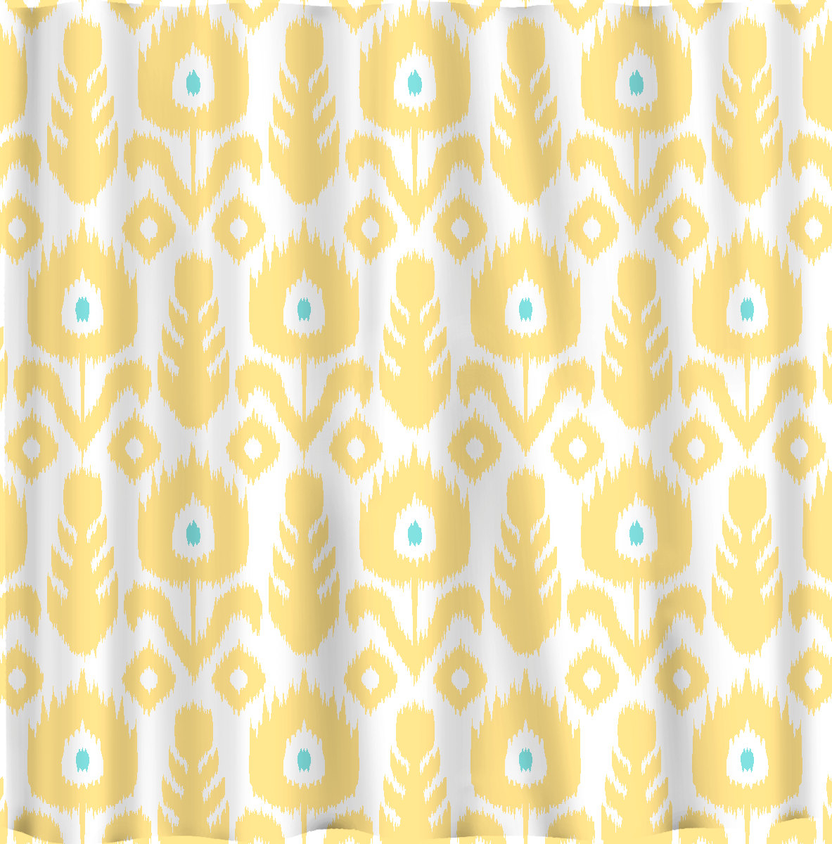 yellow and teal shower curtain. Custom Ikat Chevron Shower Curtain Any Color Shown inside proportions 1183  X 1200 Yellow And Teal Curtains Ideas