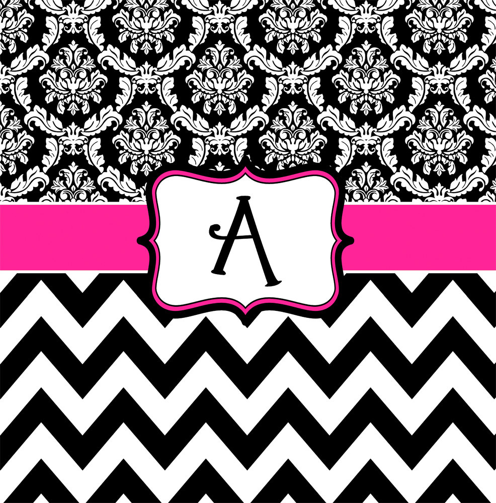 Black White Chevron Shower Curtain. Damask And Chevron Hot Pink Black White Personalized for size 986 X 1000 Shower Curtain  Curtains Ideas