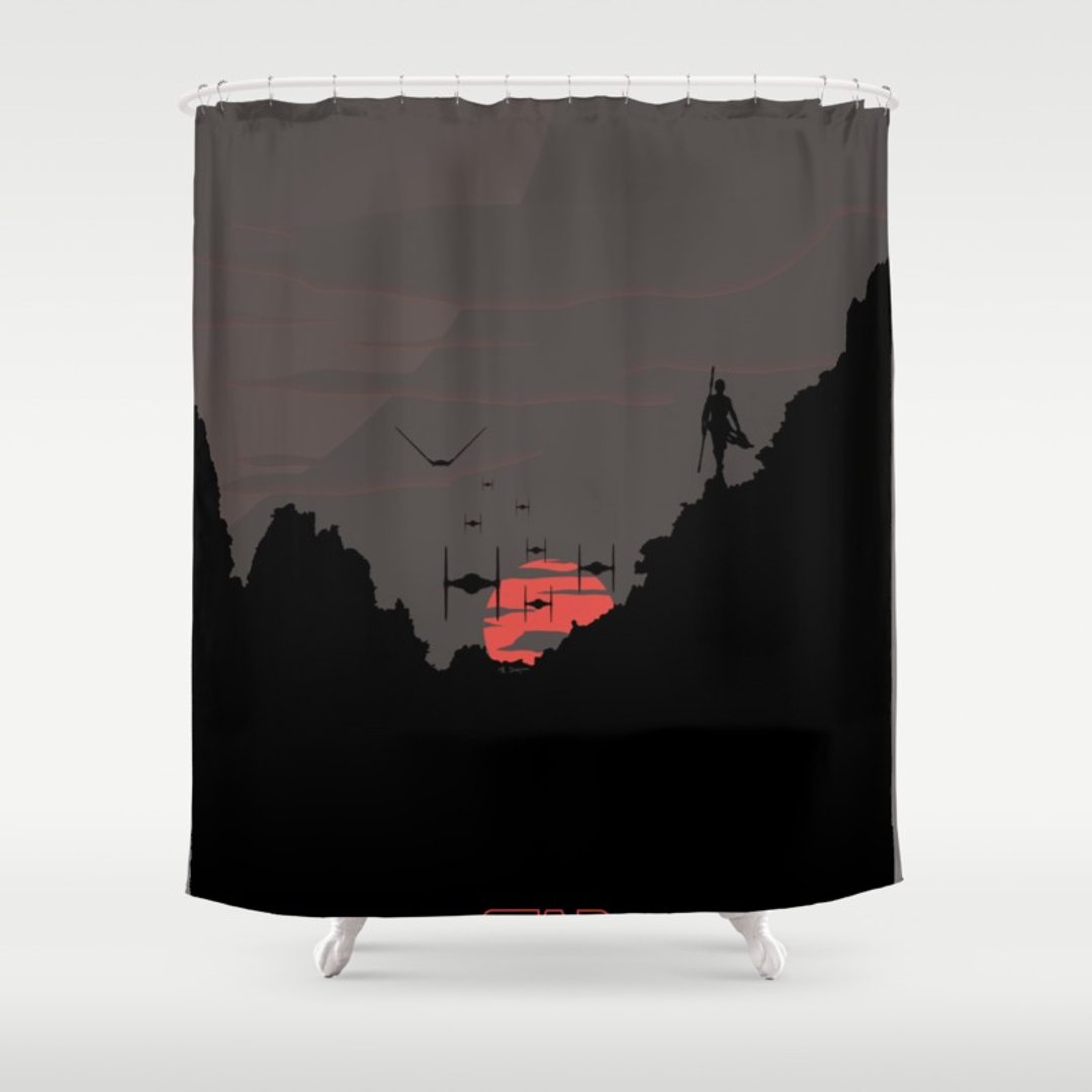 Digital Movies Tv Pop Art And Sci Fi Shower Curtains Society6 In Measurements 1080 X