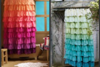 Diy Anthropologie Flamenco Shower Curtain In Sunshine Taylormade within proportions 1024 X 850