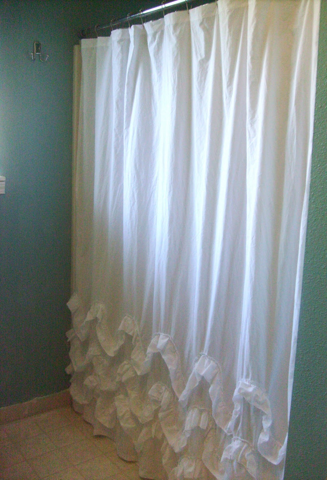 Diy Waves Of Ruffles Shower Curtain Tutorial Create Enjoy regarding dimensions 1089 X 1600