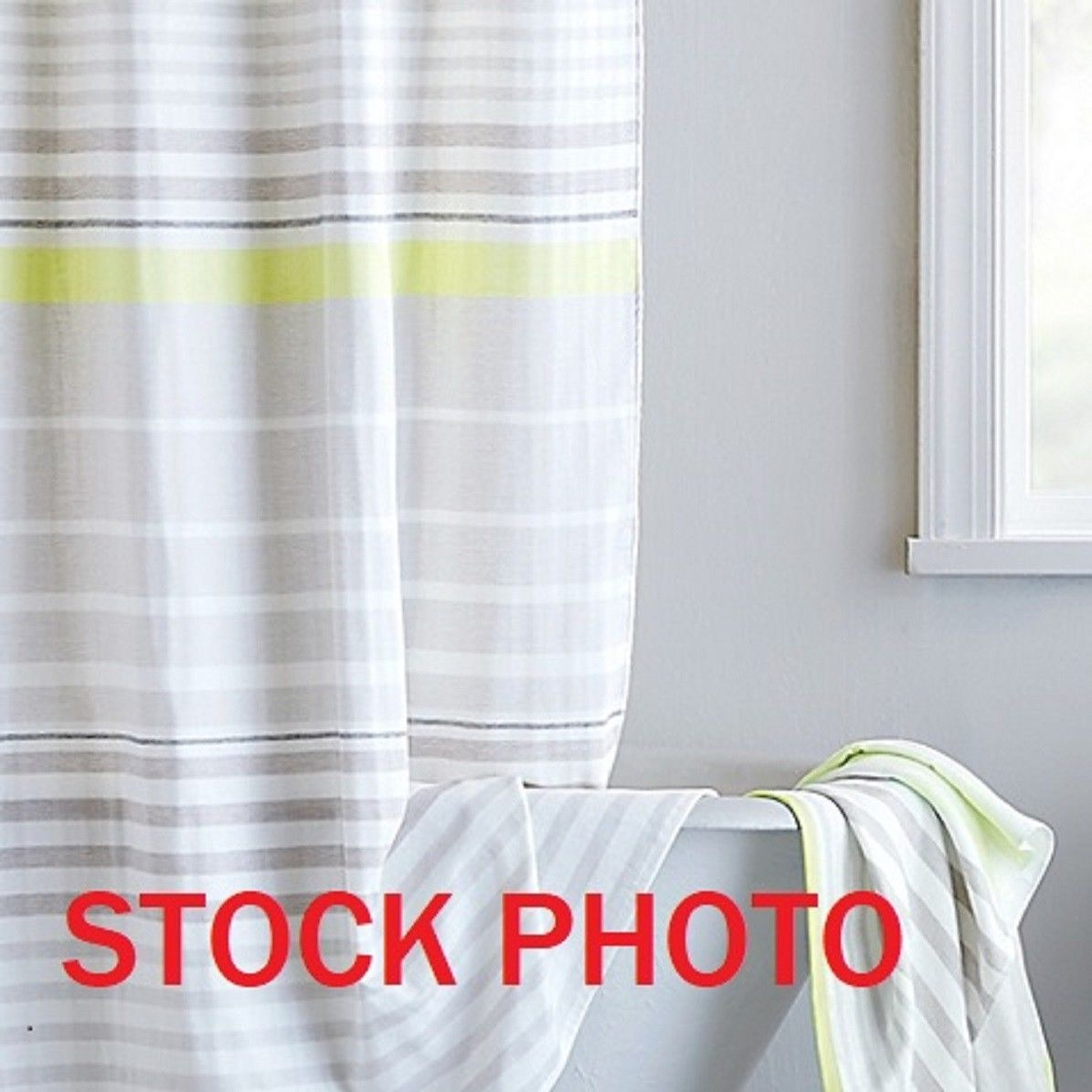 Dkny Streetscape Citron Fabric Shower Curtain White Charcoal Tan With Size  1195 X 1195